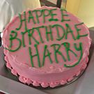 A Harry Potter-themed cake.