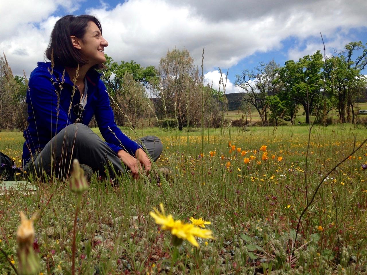 woman scientist in field
