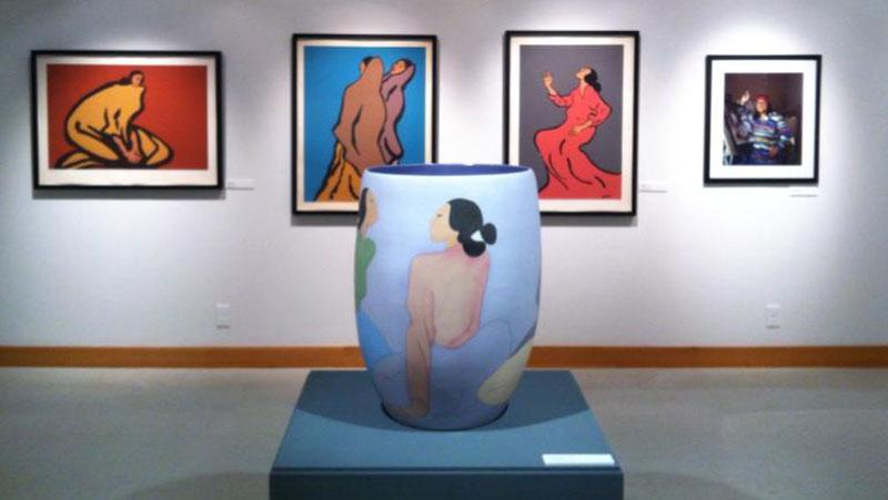 Exhibit at the C.N. Gorman Museum